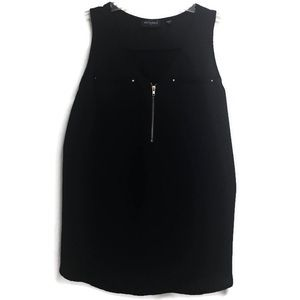 Tempted Black Sleeveless Blouse